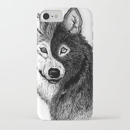 Ying Yang Wolf iPhone Case