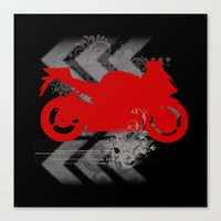 racing Canvas Prints featuring Racing by Ezgi Kaya