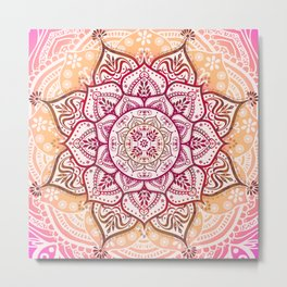 Boho Fruit Salad Metal Print