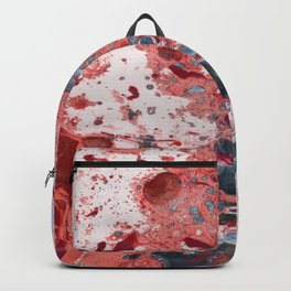 Marble art: colaide of warm and cold Backpack