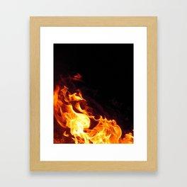 Fire Flicker Framed Art Print