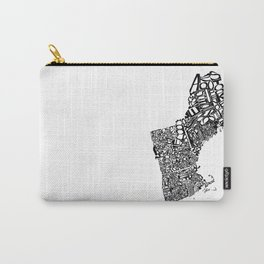 Typographic New England Carry-All Pouch