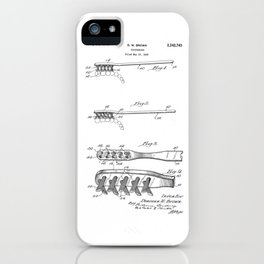 patent art Brown Toothbrush 1939 iPhone Case