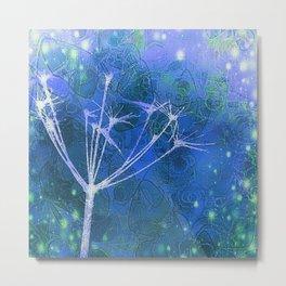 Meadow Myst Blue Metal Print