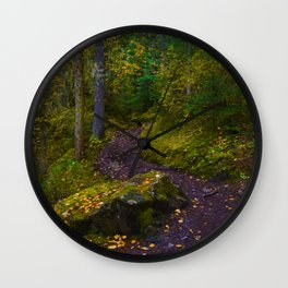 Walking along the Berg Lake Trail in Fall Wall Clock