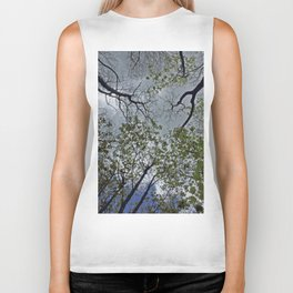 Tree canopy in the spring Biker Tank