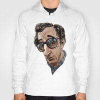woody allen Hoodies featuring Woody Allen by Mitt Roshin