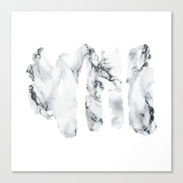 Marble stains Canvas Print