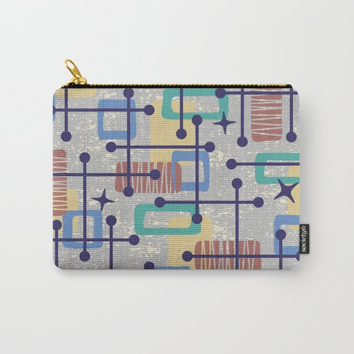 Mid Century Modern Abstract Pattern 833 Carry-All Pouch