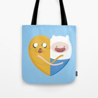 best friends Tote Bags featuring Best friends  by Manfred Maroto