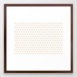 rhombus bomb in linen Framed Art Print