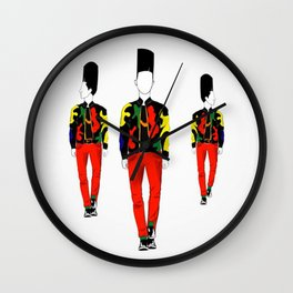 Red Jeans Wall Clock