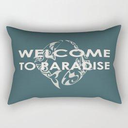 THE ISLAND . with text Rectangular Pillow