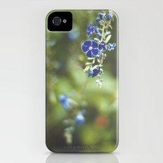 Blue flowers Slim Case iPhone (4, 4s)