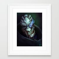 garrus Framed Art Prints featuring Mass Effect: Garrus Vakarian by Ruthie Hammerschlag