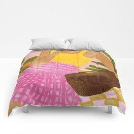 Flower Talk #illustration #painting Comforters