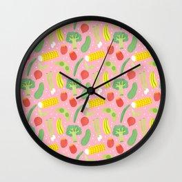 Veggie garden Wall Clock