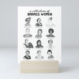 A Collection of Badass Women Mini Art Print