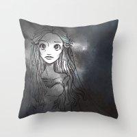emily rickard Throw Pillows featuring Emily by ChiaraCi