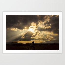 Backlit Boyfriends (Contraluz de Novios) Art Print