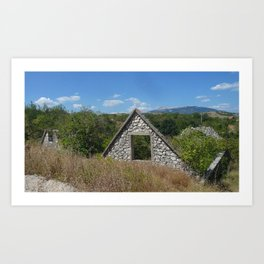 Destroyed and Abandoned Bosnian Homes Art Print