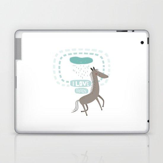 I LOVE RAIN Laptop & iPad Skin