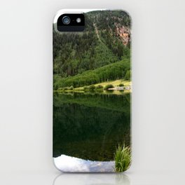 Row of Aspens on Crystal Lake iPhone Case