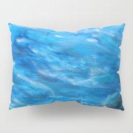 O' deep blue sea water painting Pillow Sham