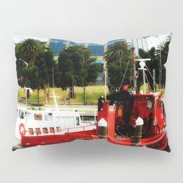Little red tug Boat Pillow Sham