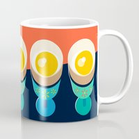 egg Mugs featuring Egg by Sam Osborne