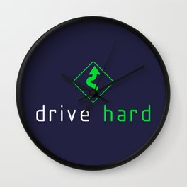 Drive Hard v5 HQvector Wall Clock