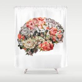 Flower Brain Shower Curtain