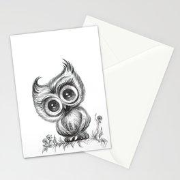 Baby Owl Wall Art Nursery Decor Bird Illustration Animals Stationery Cards