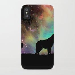 Aurora Wolf iPhone Case