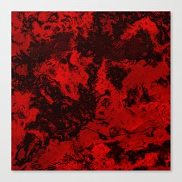 Marble-Red Canvas Print