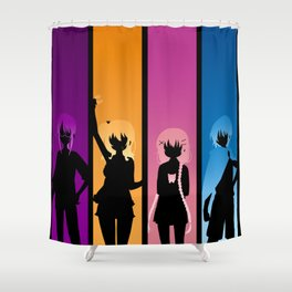 Silhouetted Manga Artists Shower Curtain