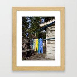 Hang your own laundry Framed Art Print