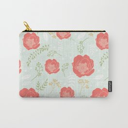 Minty Garden Carry-All Pouch