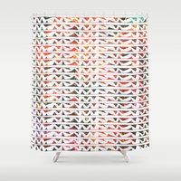 teeth Shower Curtains featuring Floral Teeth by Kara Hayley