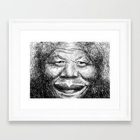 mandela Framed Art Prints featuring Mandela by Chell Vassallo