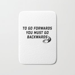 Rugby Go Backwards Quote Bath Mat