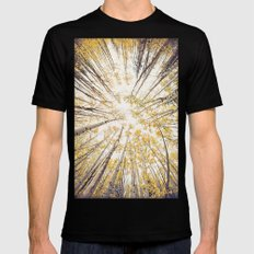 fall looking up MEDIUM Mens Fitted Tee Black