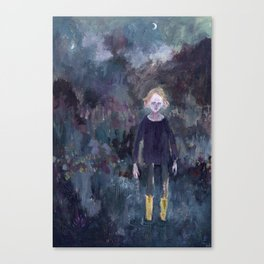 The Boy in the Yellow Boots Canvas Print