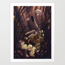 Alice Down the Rabbit Hole Art Print