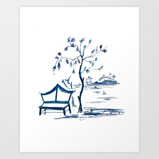 Chinoserie  Art Print