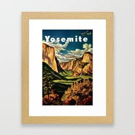 Yosemite National Park - Vintage Travel Framed Art Print