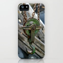 Block And Tackle iPhone Case