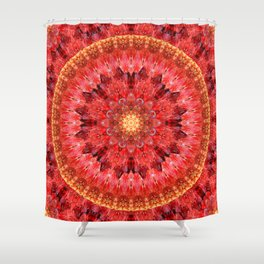 Crystal Fire Mandala Shower Curtain