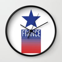 france Wall Clocks featuring FRANCE by Andrew O'Rourke