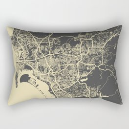 San Diego Map yellow Rectangular Pillow